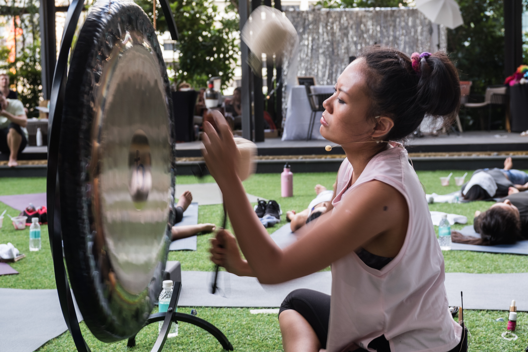gong meditation sound therapy