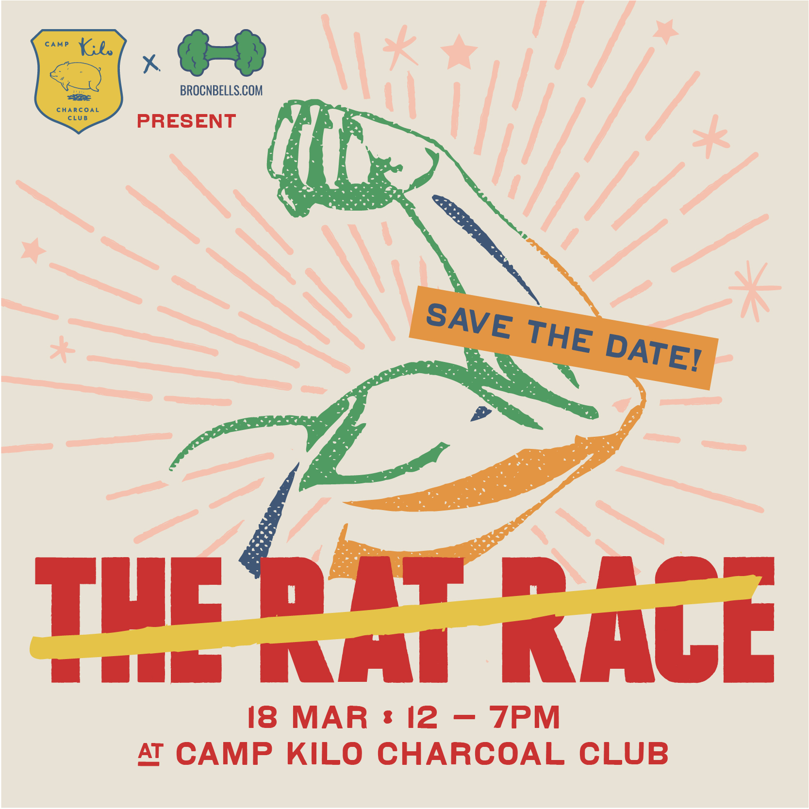 beat the rat race camp kilo charcoal club