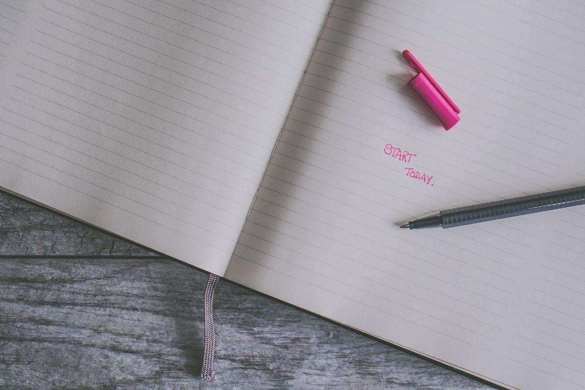 start today set goals determination journal